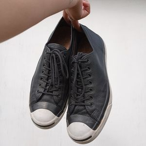 Converse Jack Purcell Black Leather Low Top